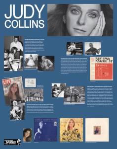 JUDY COLLINS exhibit panel