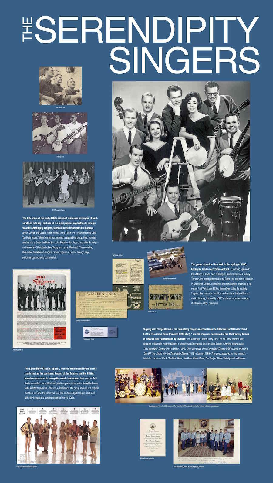 SERENDIPITY SINGERS exhibit panel