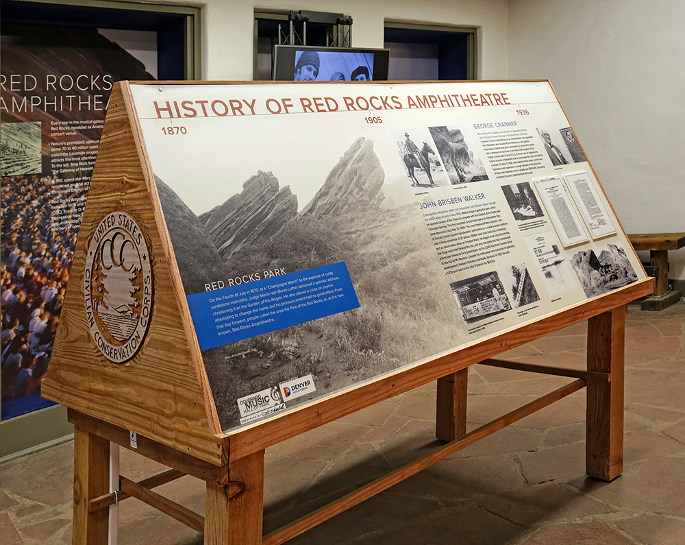 Red Rocks Amphitheatre Exhibit - Colorado Music Hall of Fame