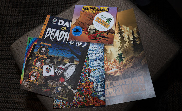 Deadhead swag from the Colorado Getaway Event - Colorado Music Hall Of Fame