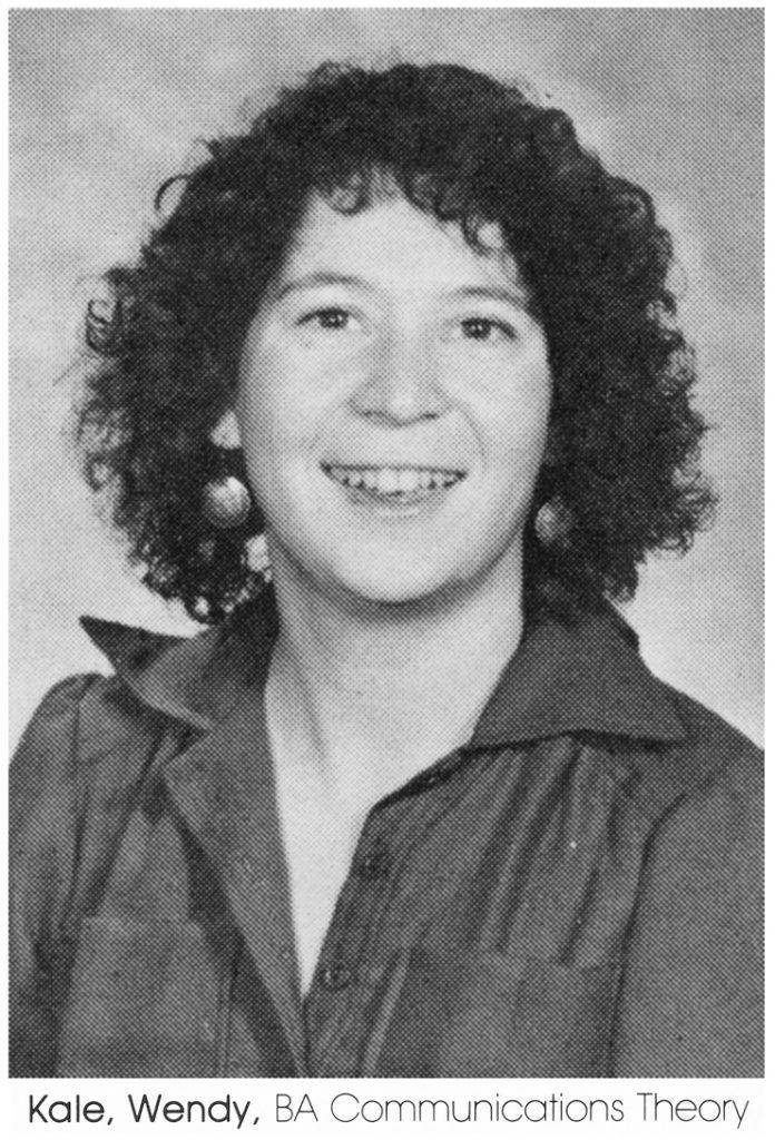 Wendy Kale CU Yearbook parsed