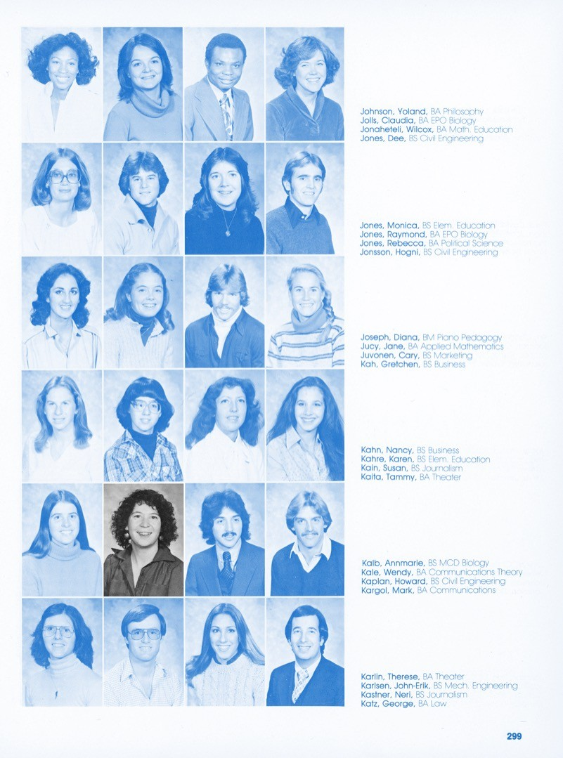 Wendy Kale CU Yearbook Photo